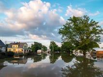 Überschwemmte Nachbarschaft Stockbilder