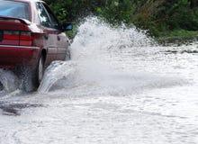 Überschwemmte Straße Lizenzfreie Stockfotos