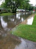 Überschwemmte Straße Stockbild