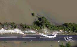 Überschwemmte Straße Lizenzfreies Stockbild