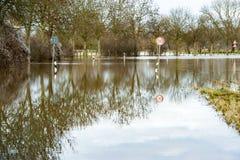Überschwemmte Straßen Stockbild