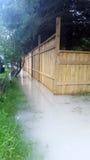 Überschwemmter Abzugsgraben Lizenzfreie Stockfotografie