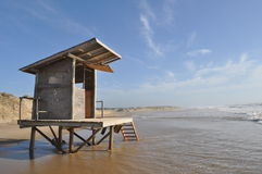 Überschwemmter Bau in Rocha Uruguay Lizenzfreie Stockfotos