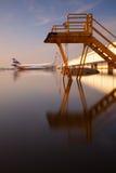 Überschwemmter Flughafenkomplex Lizenzfreie Stockfotografie