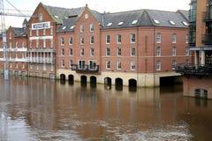 Überschwemmter Fluss Ouse, York, Großbritannien