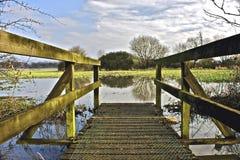 Überschwemmter Fußweg Stockfoto