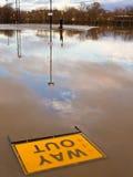 Überschwemmter Parkplatz lizenzfreies stockfoto