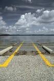 Überschwemmter Parkplatz Stockfotografie