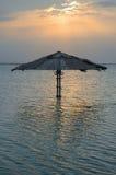 Überschwemmter Sonnenschirm Stockbild