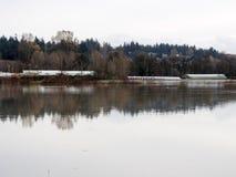 Überschwemmtes Ackerland Lizenzfreies Stockbild