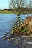 Überschwemmtes Ackerland - Yorkshire - England Lizenzfreie Stockfotos