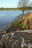 Überschwemmtes Ackerland - Yorkshire - England Stockbilder