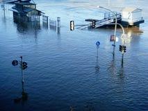 Überschwemmtes Dresden Lizenzfreie Stockbilder