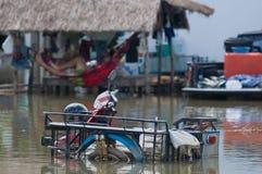 Überschwemmtes Motorrad in Thailand Lizenzfreie Stockfotografie