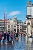 Überschwemmtes St. markiert Quadrat in Venedig, Italien Lizenzfreies Stockbild