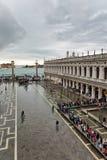 Überschwemmtes St. markiert Quadrat in Venedig, Italien Stockbilder