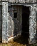Überschwemmtes Wikinger-Haus der Tür Lizenzfreies Stockbild