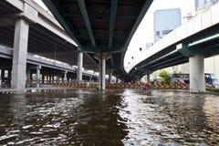 Überschwemmung in Bangkok. Stockbilder