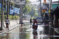 Überschwemmung in Bangkok. Stockbild