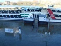 Überschwemmung Elb Fluss Lizenzfreies Stockbild