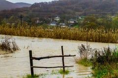 Überschwemmung im Transcarpathia Lizenzfreies Stockbild