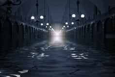 Überschwemmung im Tunnel Stockbilder