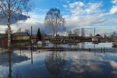 Überschwemmung in Krasavino Stockbilder