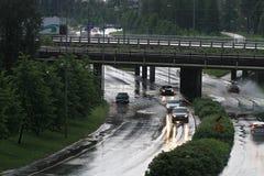 Überschwemmung in Oulu, Finnland Lizenzfreie Stockfotografie