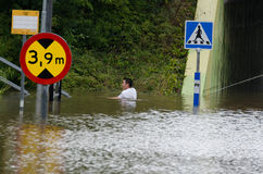 Überschwemmung in Schweden Lizenzfreie Stockfotos