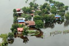 Überschwemmung in Tawung, Lopburi, Thailand stockbilder
