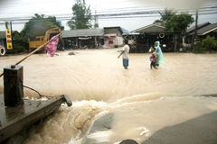 Überschwemmung in Thailand Stockfotografie
