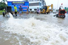 Überschwemmung in Thailand lizenzfreie stockfotografie