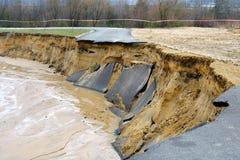 Überschwemmung und Zerstörung stockbild