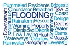 Überschwemmungs-Wort-Wolke Lizenzfreie Stockfotografie