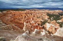 Übersehen Sie über dem Nationalpark der bryce Schlucht, Utah lizenzfreie stockfotos