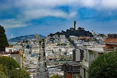 Übersehen Sie bei San Francisco California Lizenzfreie Stockbilder