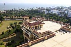Übersehen Sie diyuan Victoria-Hotel an der Küste, luftgetrockneter Ziegelstein rgb Stockbilder