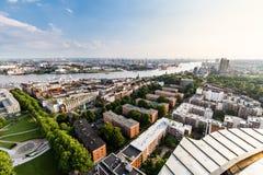 Übersehen Sie zum alten Stadtteil von Hamburg, Deutschland lizenzfreie stockbilder