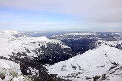 Übersehende Berge Lizenzfreie Stockfotografie
