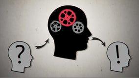 Übersetzen Sie Kopf Vektor animation2 stock video footage