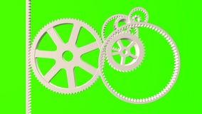 Übersetzen Sie System-Animation auf grünem Schirm und schwarzem Hintergrund stock abbildung