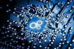 Übersetzt Ikone auf Computer-Chip Lizenzfreie Stockfotografie