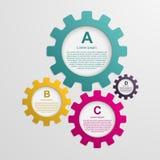 Übersetzt infographic Schablone Vier Schneeflocken auf weißem Hintergrund Lizenzfreies Stockfoto