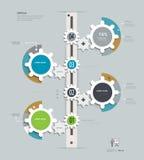 Übersetzt Infographics-Zeitachse Stock Abbildung
