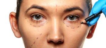 Übersicht vor Schönheitsoperation. Lizenzfreies Stockfoto