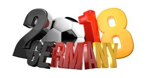 überträgt Deutschland-Fußball 2018 3d Stockfoto