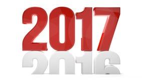 übertragen neues Jahr 2017 2016 sylvester 3d Symbol Lizenzfreies Stockbild