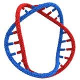 Übertragen Sie DNA Molekül der Zusammenfassung 3D auf Weiß Stockbild