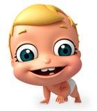 Übertragen Sie von gehender Haltung des Babys Stockfoto