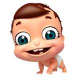 Übertragen Sie von gehender Haltung des Babys Lizenzfreie Stockfotografie